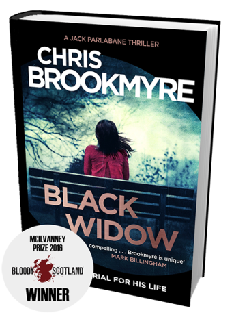 Chris Brookmyre Black Widow McIlvanney Prize winner